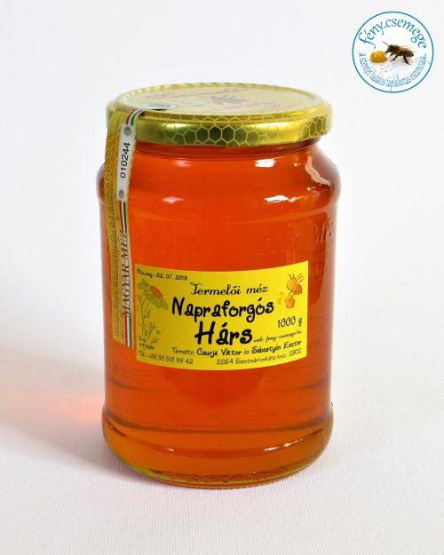 termelői napraforgóss hárs méz